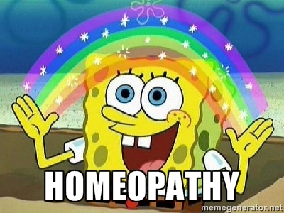 homeopathy - spongebob rainbow meme