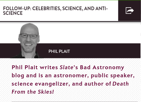 Phil Plait Follow-Up